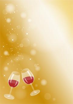 A toast of wine