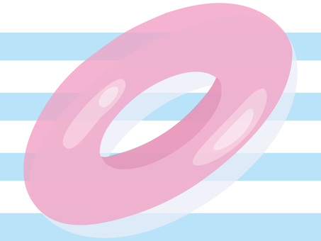 Permeable processed pink float ring separately