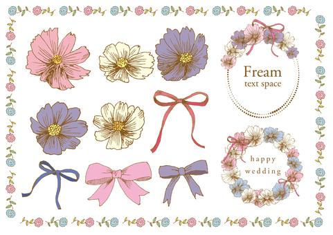 Handwritten material 011 Flower frame