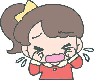 泣く女の子(私服)