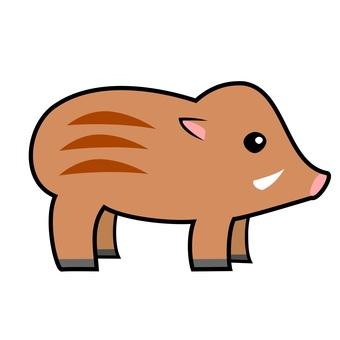 Wild boar sideways