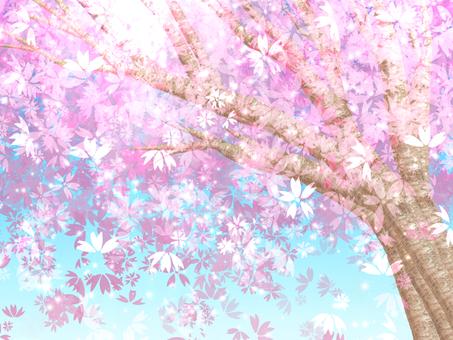Glittering cherry background