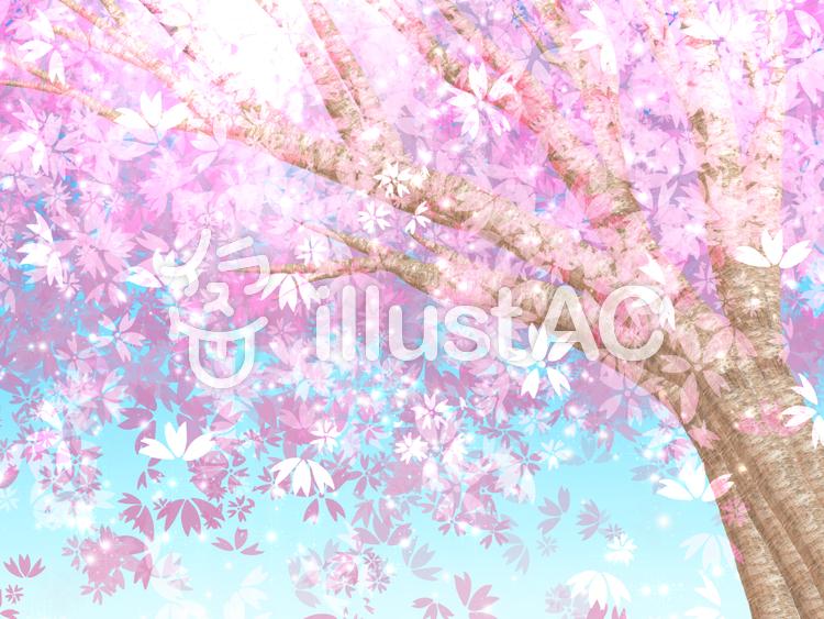 キラキラ桜の背景のイラスト