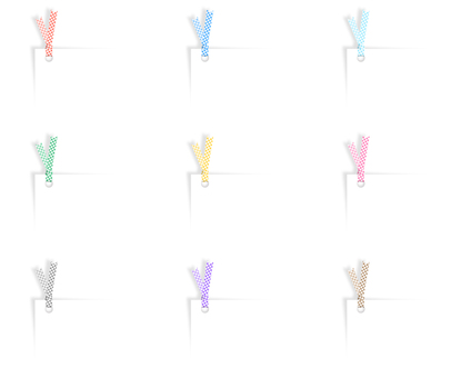 책갈피 체크 무늬 (색상 세트)