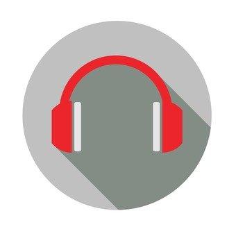 Flat icon - Headphone
