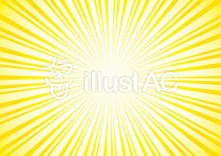 放射線黄色効果線集中線フレーム枠背景光線イラスト No 543996無料