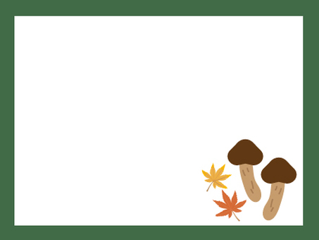 Matsutake and autumn leaves