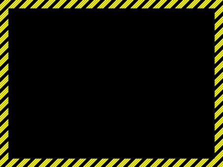 Danger frame black