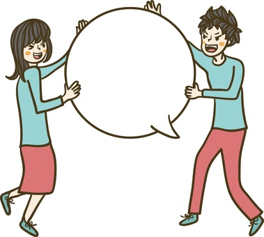 A person with a speech bubble