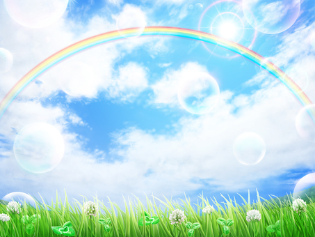 Grass White Altus Grass Blue Sky background · Wallpaper Frame 6