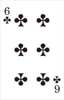 Playing Cards-Clover 6