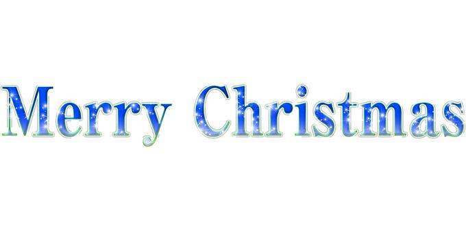 Merry Christmas logo _ blue