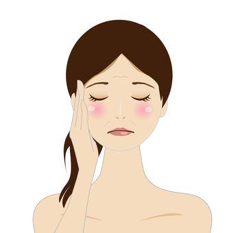 Women worried about wrinkles