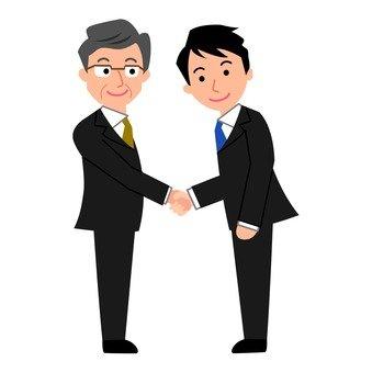 व्यापारी हाथ मिलाने