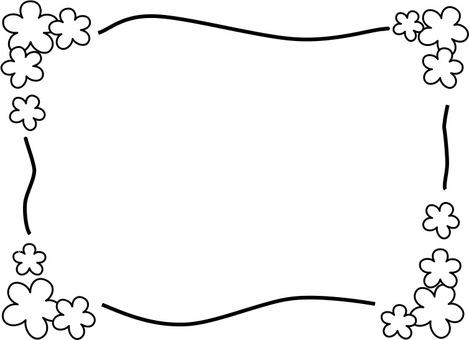 꽃의 메시지 프레임