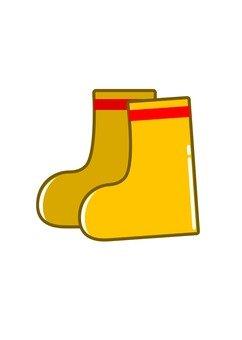 Yellow children's boots