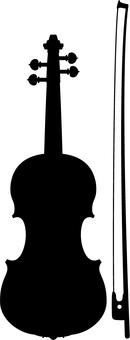 바이올린 실루엣