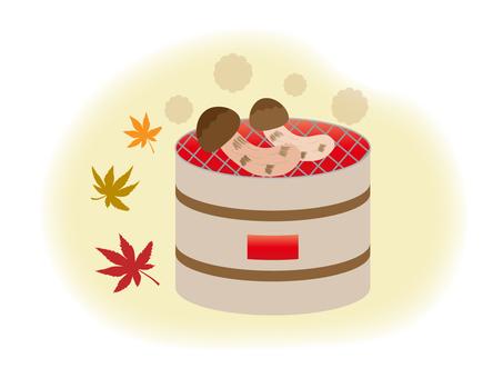 Illustration of Matsutake mushroom