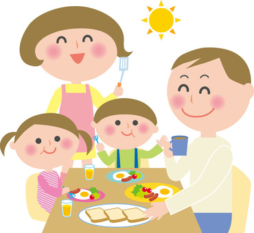 Aileye kahvaltı