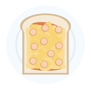 早餐披薩吐司