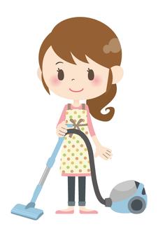 家庭主婦A *打掃房間01