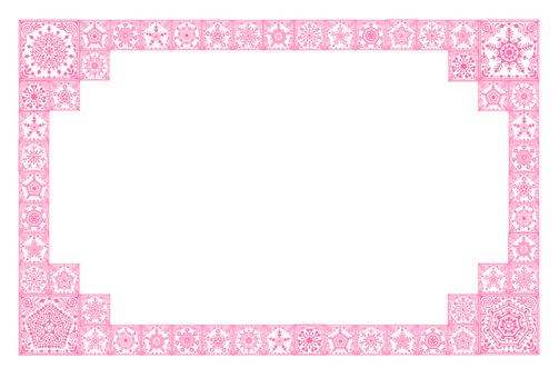 크리스탈 모양의 프레임 (핑크)