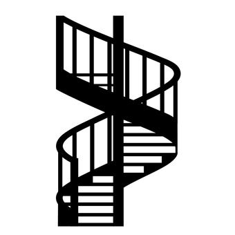 Spiral staircase icon