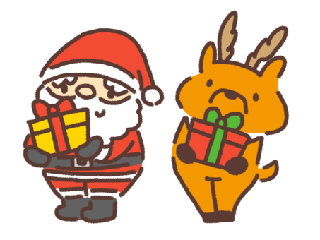 Santa and reindeer 2