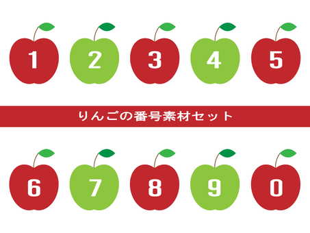 Apple number material set