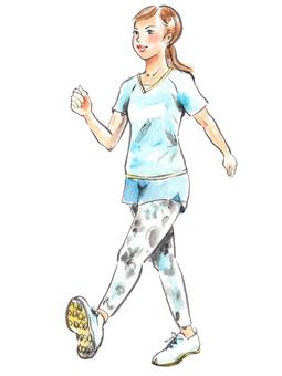 Women in walking 1