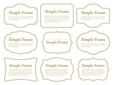 Simple frame · decorative frame set