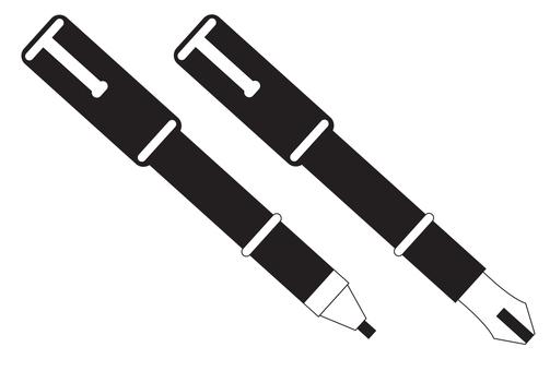Fountain pen and mechanical pen