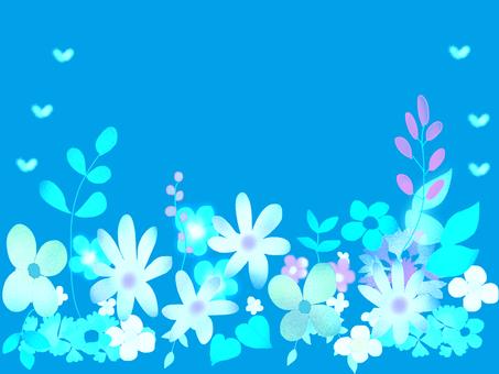 Full of flowers blue