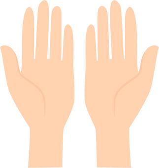 both hands