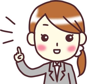[여성 정장] 정면 _ 손가락 찔러 2