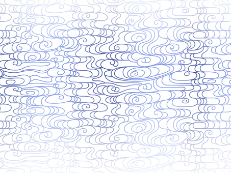 Abstract wave patterns on white background Blue 5