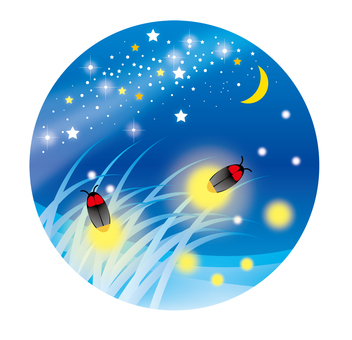 Night of fireflies (round) 2