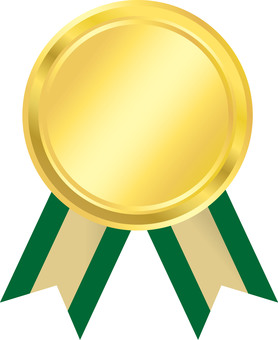 Medal Green Ribbon pattern 3