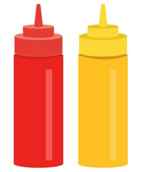 Ketchup · mustard bottle