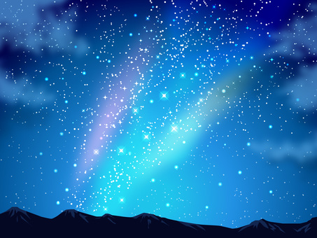 Stars and the Night Sky and Mountains Background 03