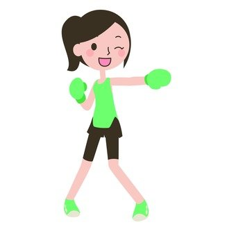 Shadow boxing women