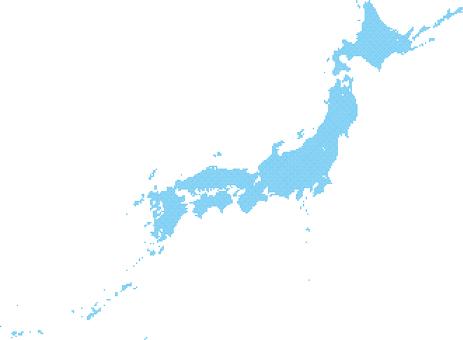 Dot Japan Map b