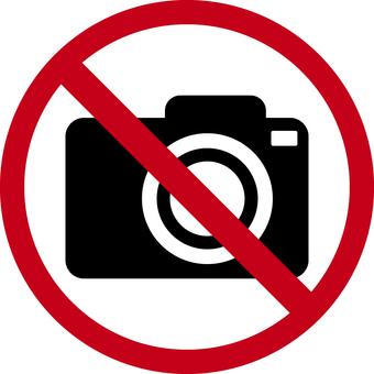 Camera, shooting prohibited