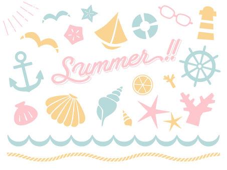 Summer pastel material set