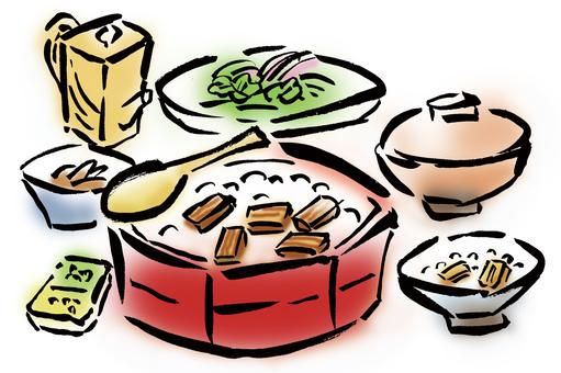 Hatsumibushi set, set meal
