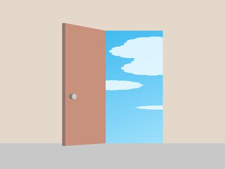 Door door material simple sky illustration