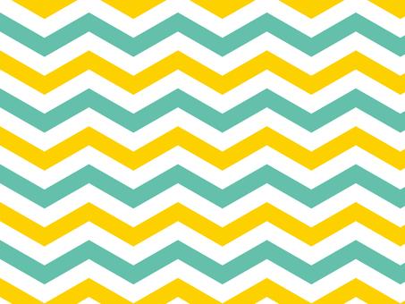 Chevron pattern ● yellow × green