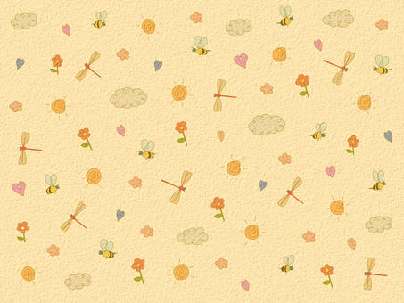 Flower and insect background 2
