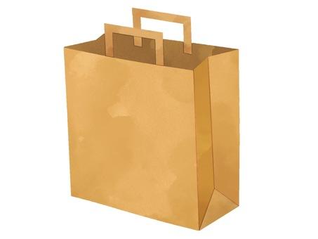 Illustration of paper bag