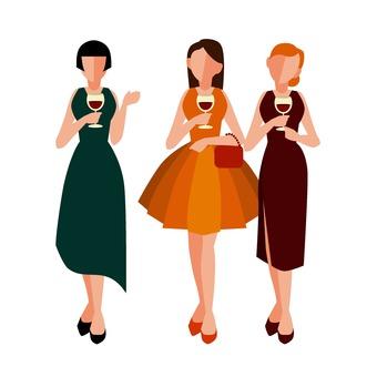 3 women in the dress